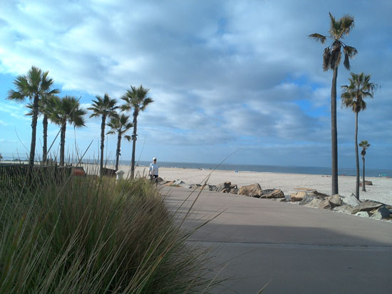 Beach walk at Coronado